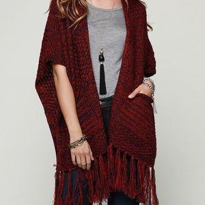 Sweaters - NEW Kimono poncho sweater fringes tassels women S
